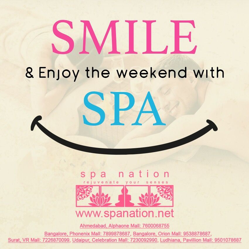 Enjoy the week end with spa @ Spa Nation #spa #spanation #weekend