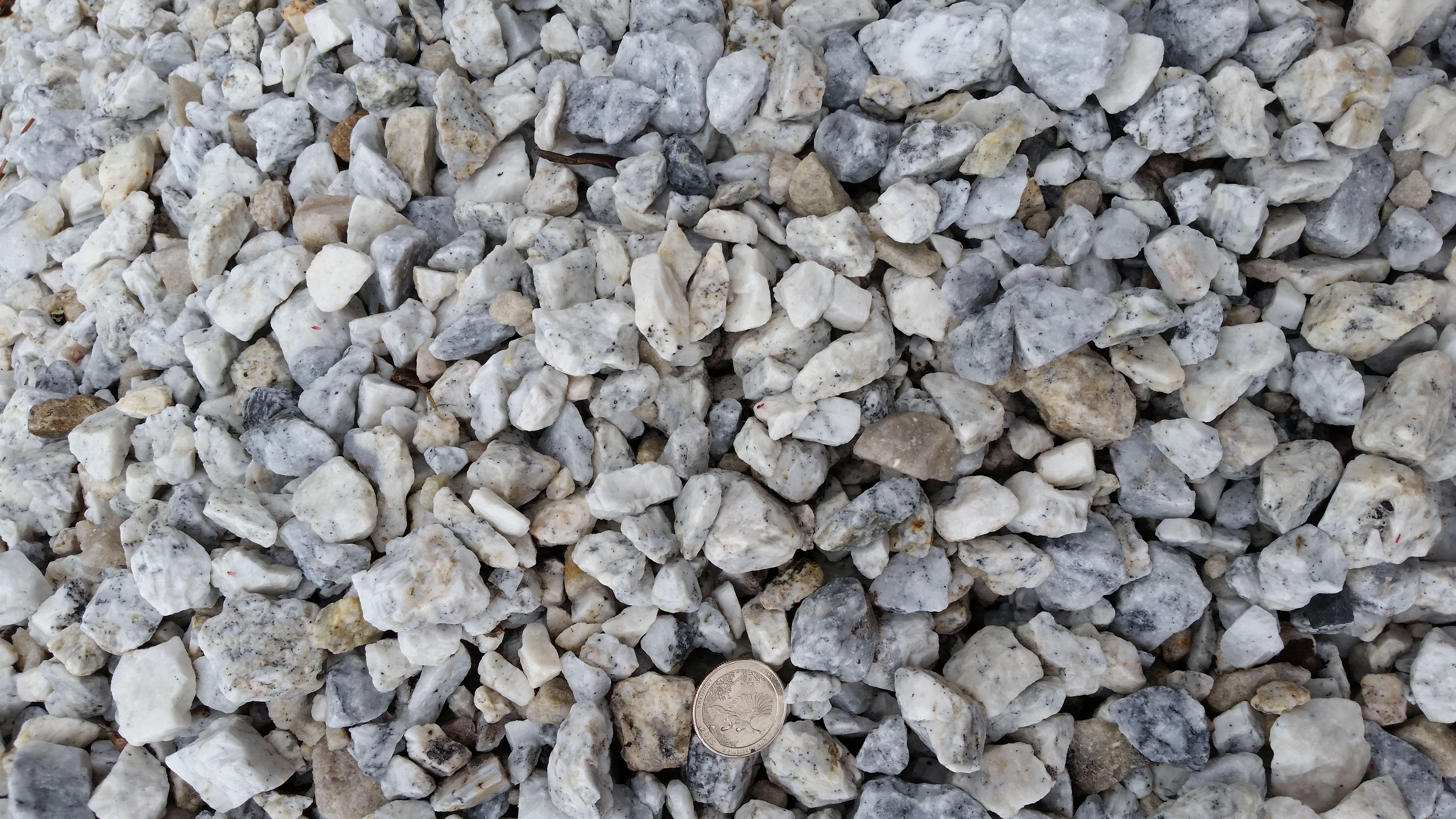 bag of white rocks home depot