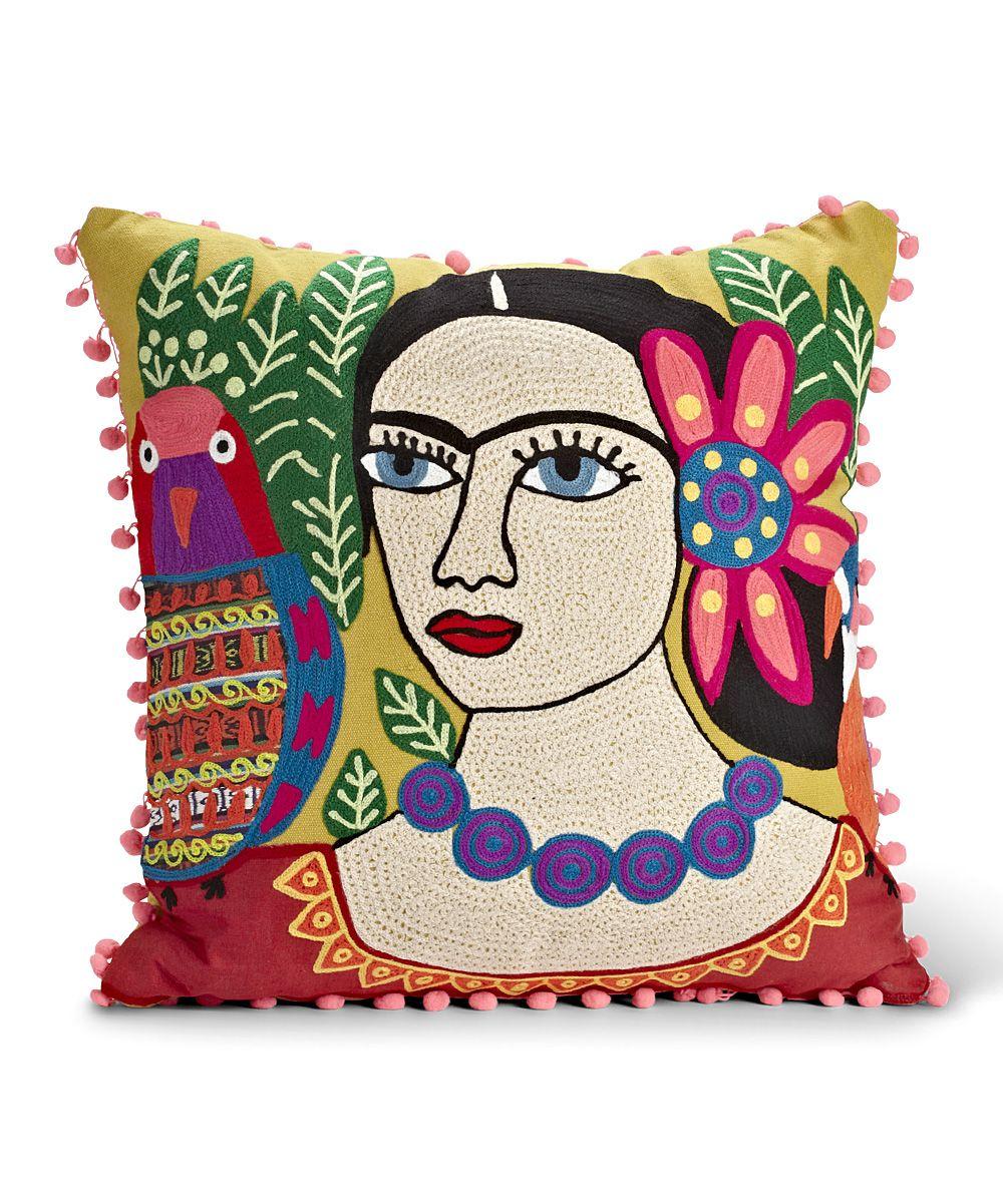 abbott yellow woman  parrot throw pillow  couple throw pillows  - i want a couple funky pillows in my room or libing room 💜💜💜 abbottyellow woman  parrot throw pillow