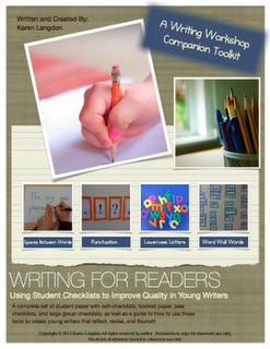 FREE Writing For Readers Writing Workshop Paper - Using Checklists! - Go to http://pinterest.com/TheBestofTPT/ for this and thousands of free lessons.