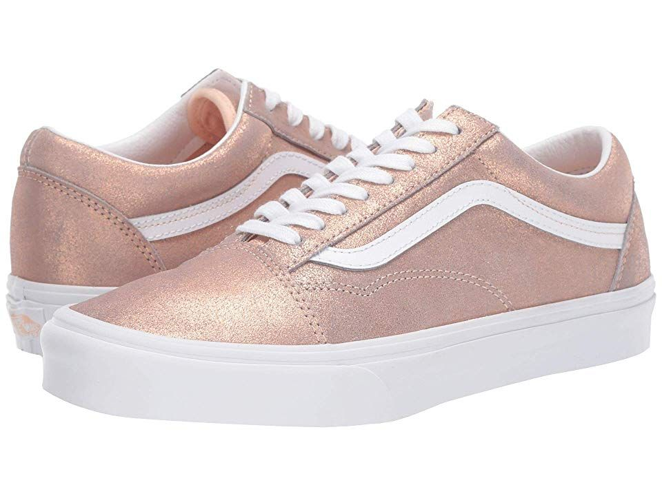 Details about Brand New Womens Vans Old Skool Rose Gold Skate Athletic Shoes *Limited Edition*