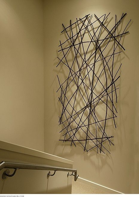 New Ways To Use Art In A Room. Wood Stick DecorStick DecorationsModern Metal  ...