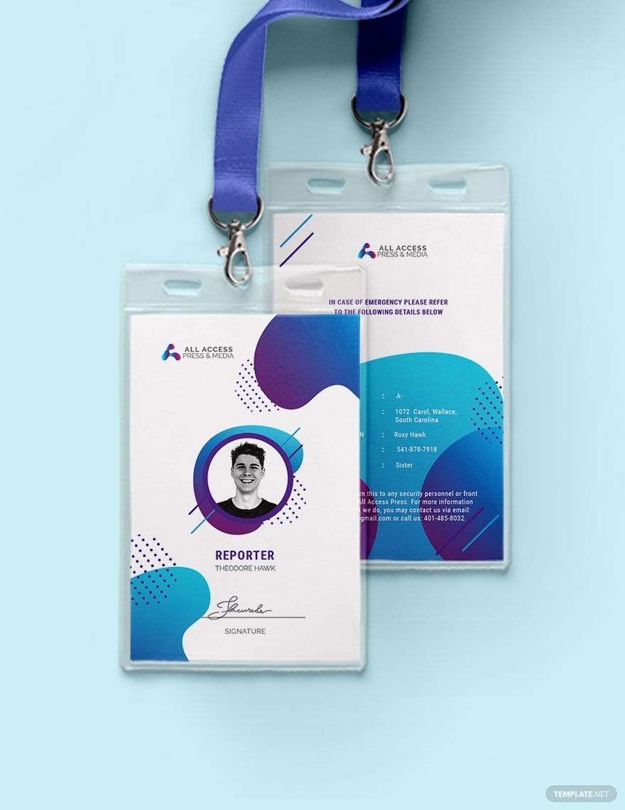 Creative Press Id Card Template Word Doc Psd Apple Mac Pages Illustrator Publisher Id Card Template Free Printable Business Cards Business Card Design Creative