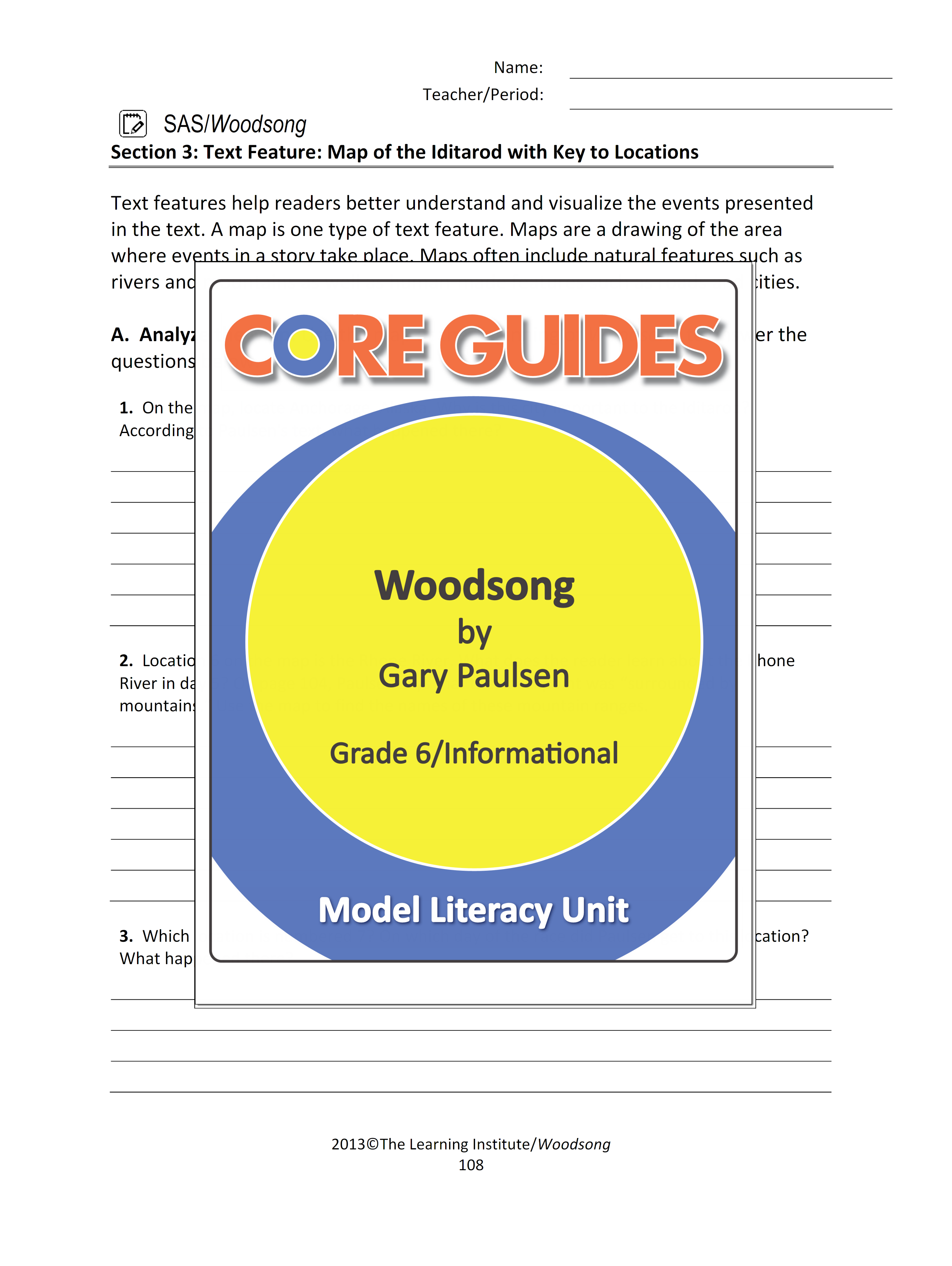 Enjoy This Free Text Feature Worksheet For Use With The
