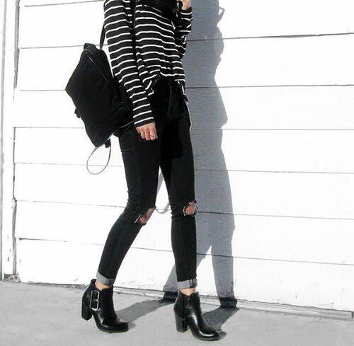 http://weheartit.com/entry/218640849 Casual Jeans preto