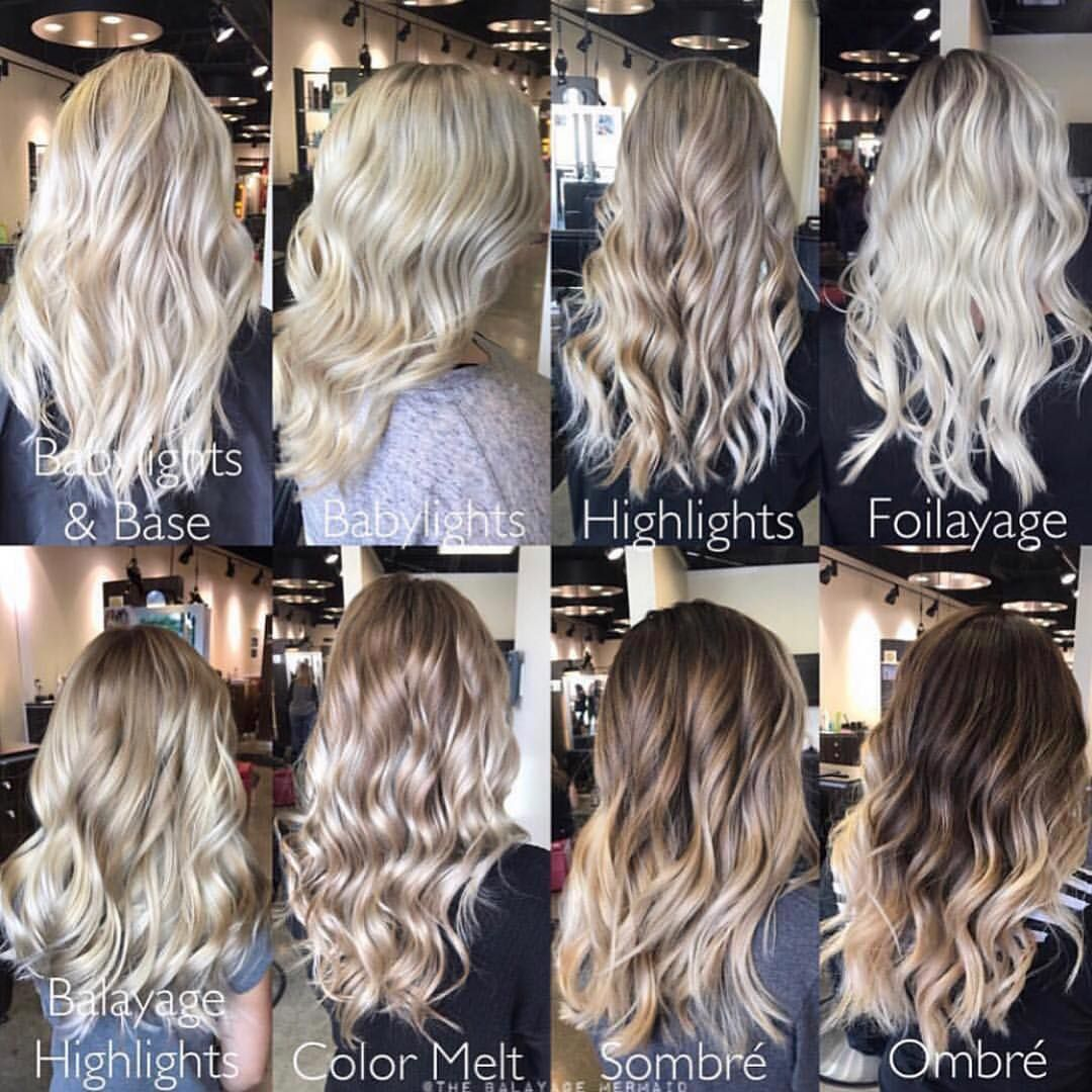 Types Of Highlights And Balayage
