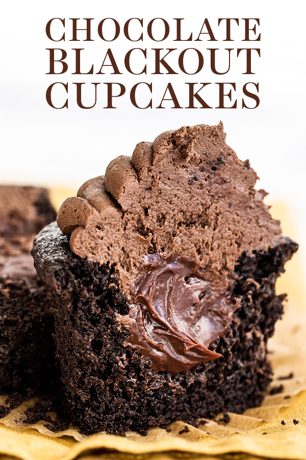 Chocolate Blackout Cupcakes #chocolatecupcakes
