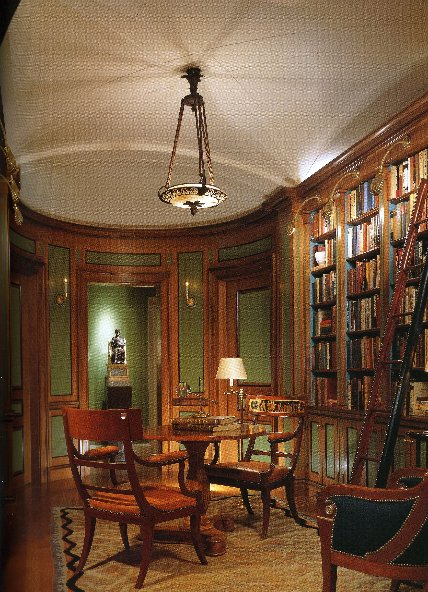 Luxury Home Library Design: Pin By Maggie Baratz On Mystic Library (With Images