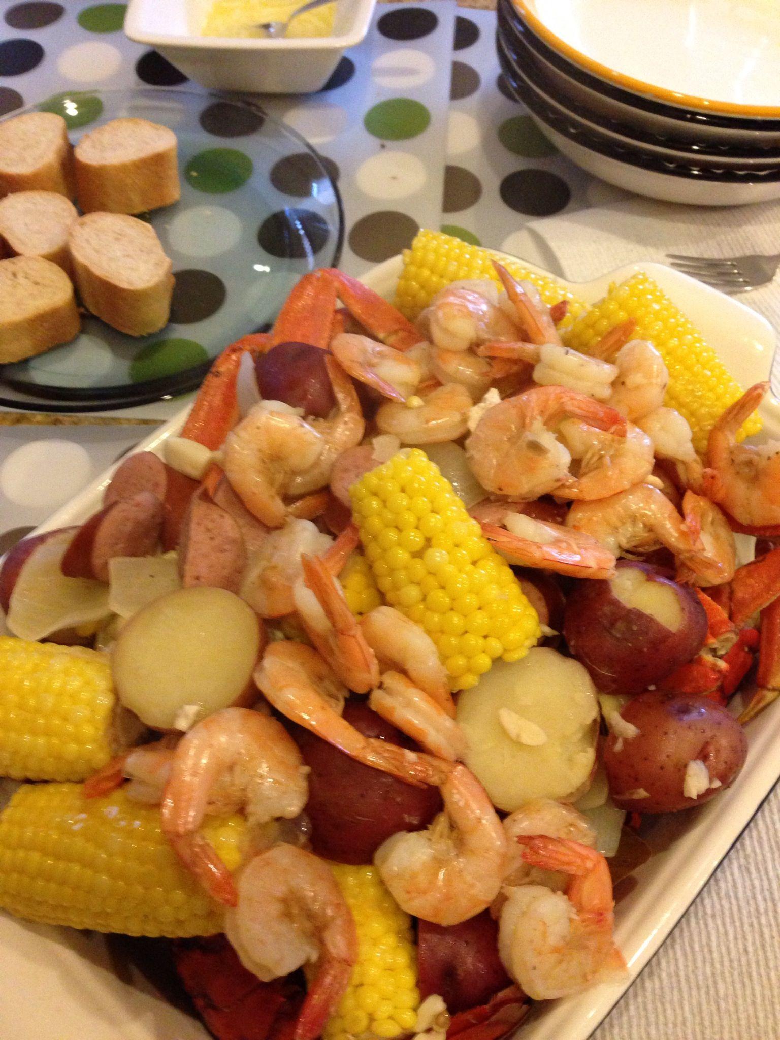 Seafood Boil Lobster Crab Shrimp Sausage Corn Potatoes Seafood Recipes Easy Seafood Recipes Seafood Boil
