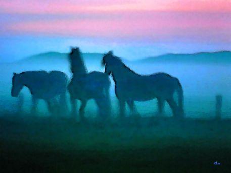 'Die Blauen Pferde von Wendt' von Dirk h. Wendt bei artflakes.com als Poster oder Kunstdruck $19.41