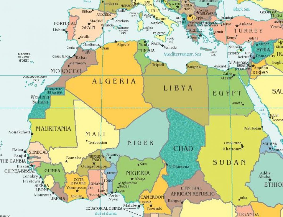 Map Of Spain North Africa.Image Result For Map Of Morocco And Surrounding Countries With