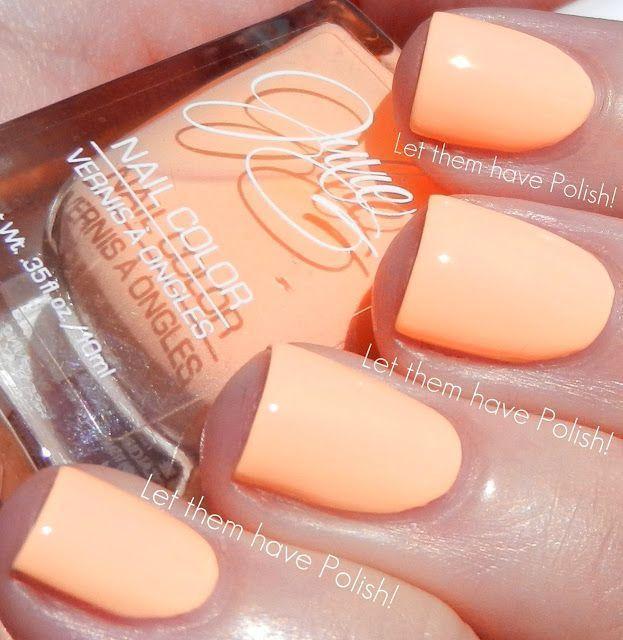 Black Light Julie G Neon Orange Peach 9 To 5 Nail Polish Bikini Julieg Full Julieg Peach Nails Neon Nails Trendy Nails
