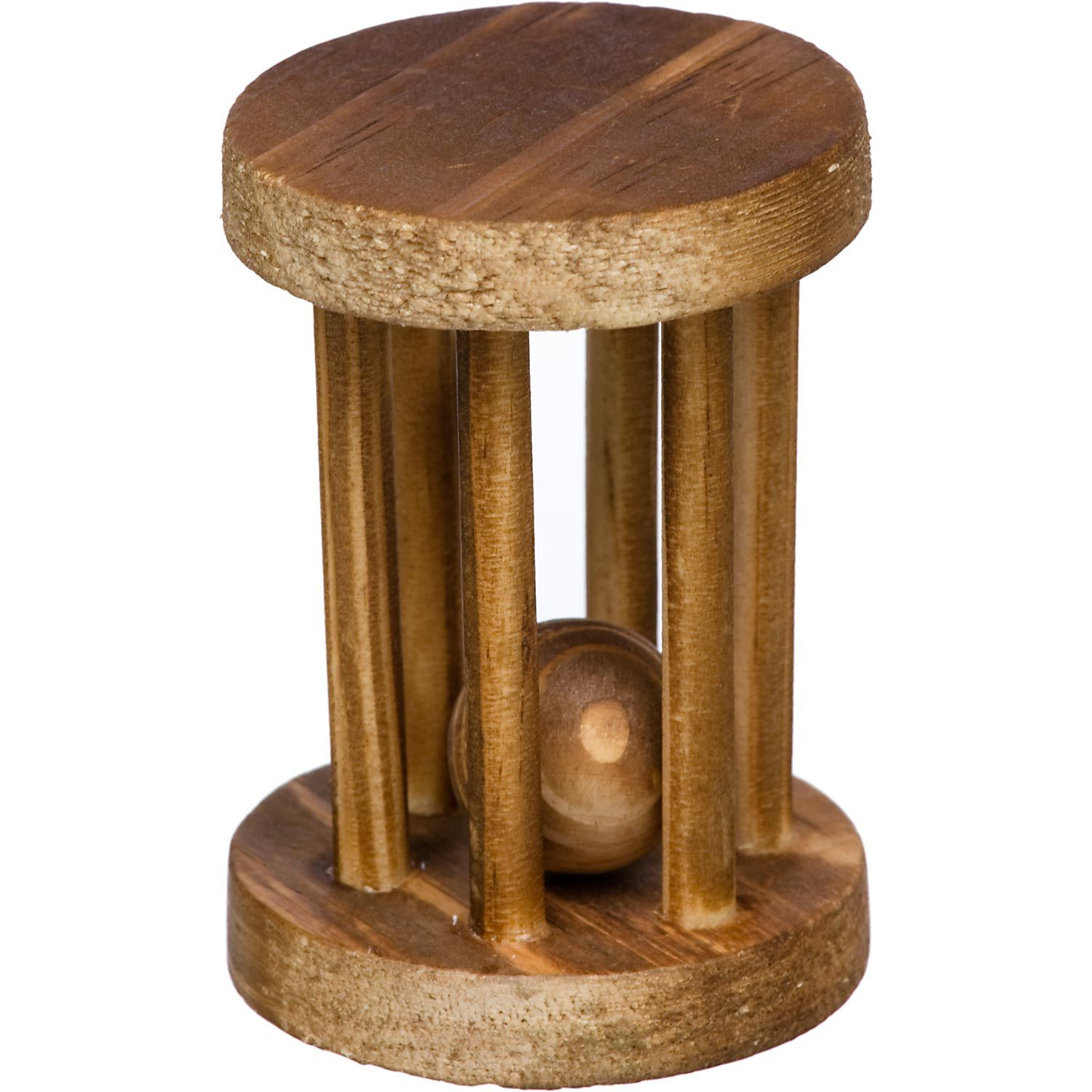 Petco Wood Wheel with Ball Small Animal Chew Toy