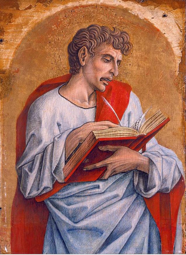 Saint John the Evangelist by Carlo Crivelli ( 1470) tempera on wood panel