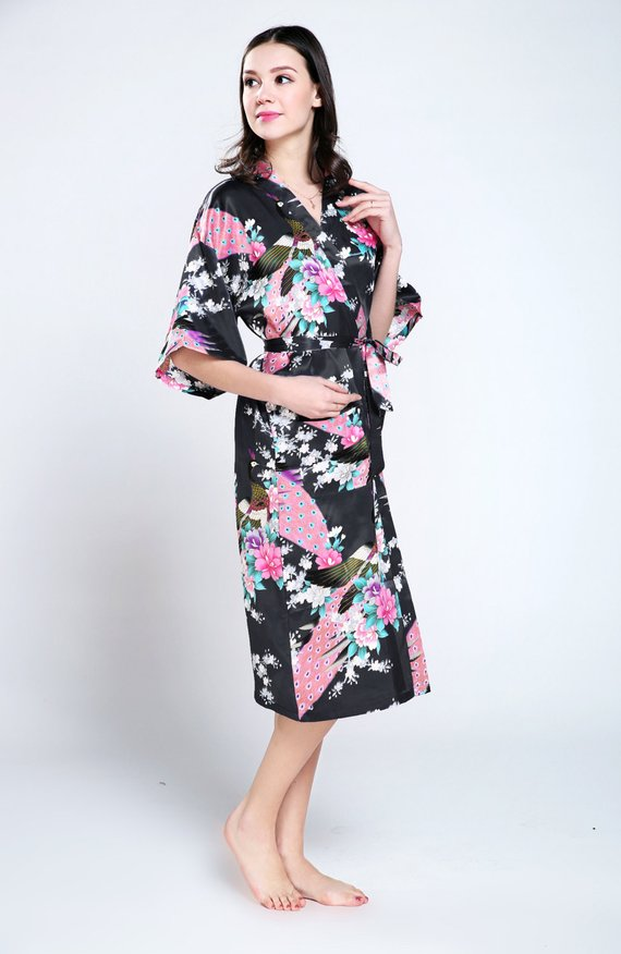 black silk dressing gown dressin gown women lightweight dressing ...