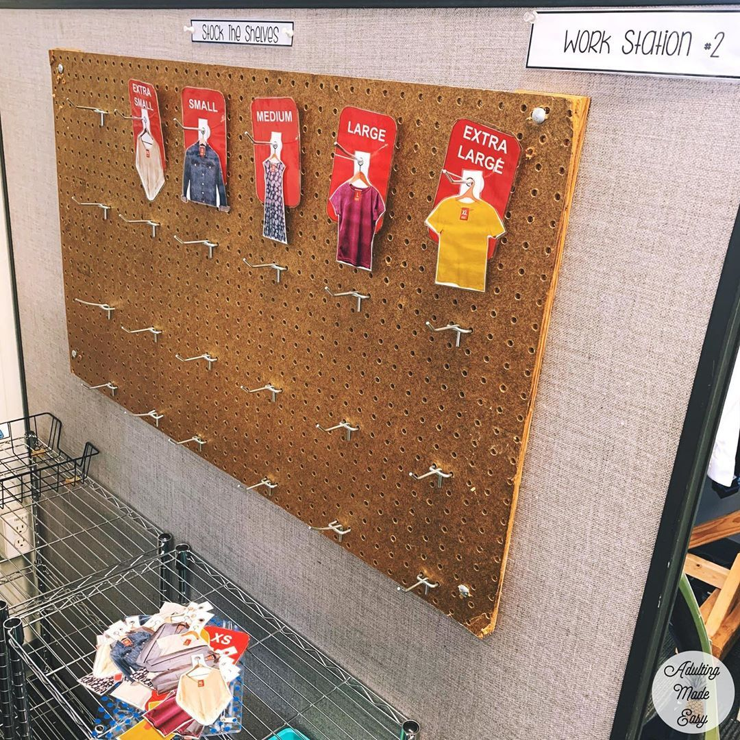 Clothing Sizes Vocational Sorting Activity