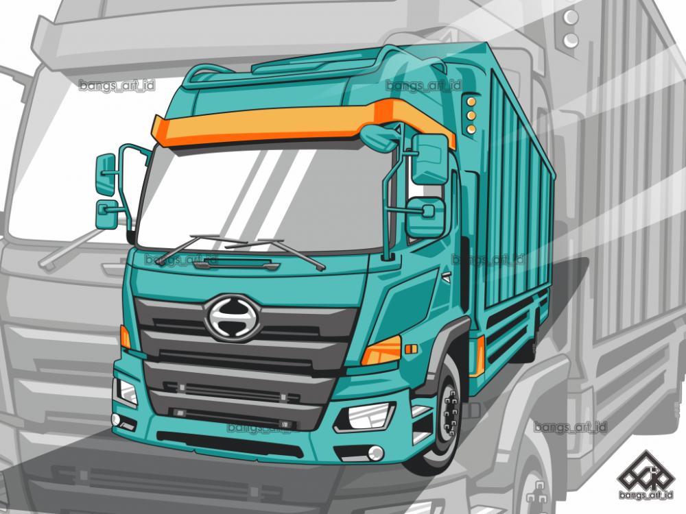 Truck Vector Jasa Desain Grafis Murah Dan Jasa Vector Murah Bangs Art Id Desain Logo Logo Keren Mobil