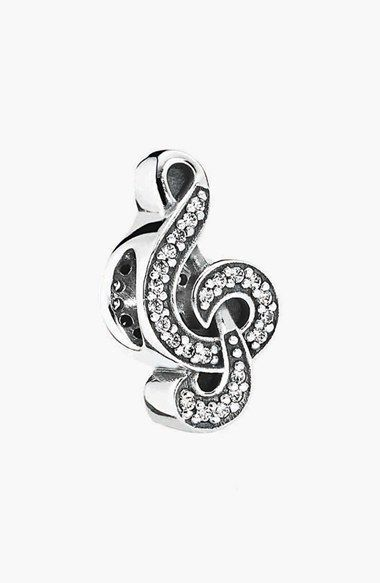 bf18b71ea FOR: LEARNING THE CELLO | Treble Clef PANDORA 'Sweet Music Note' Bead Charm  available at #Nordstrom