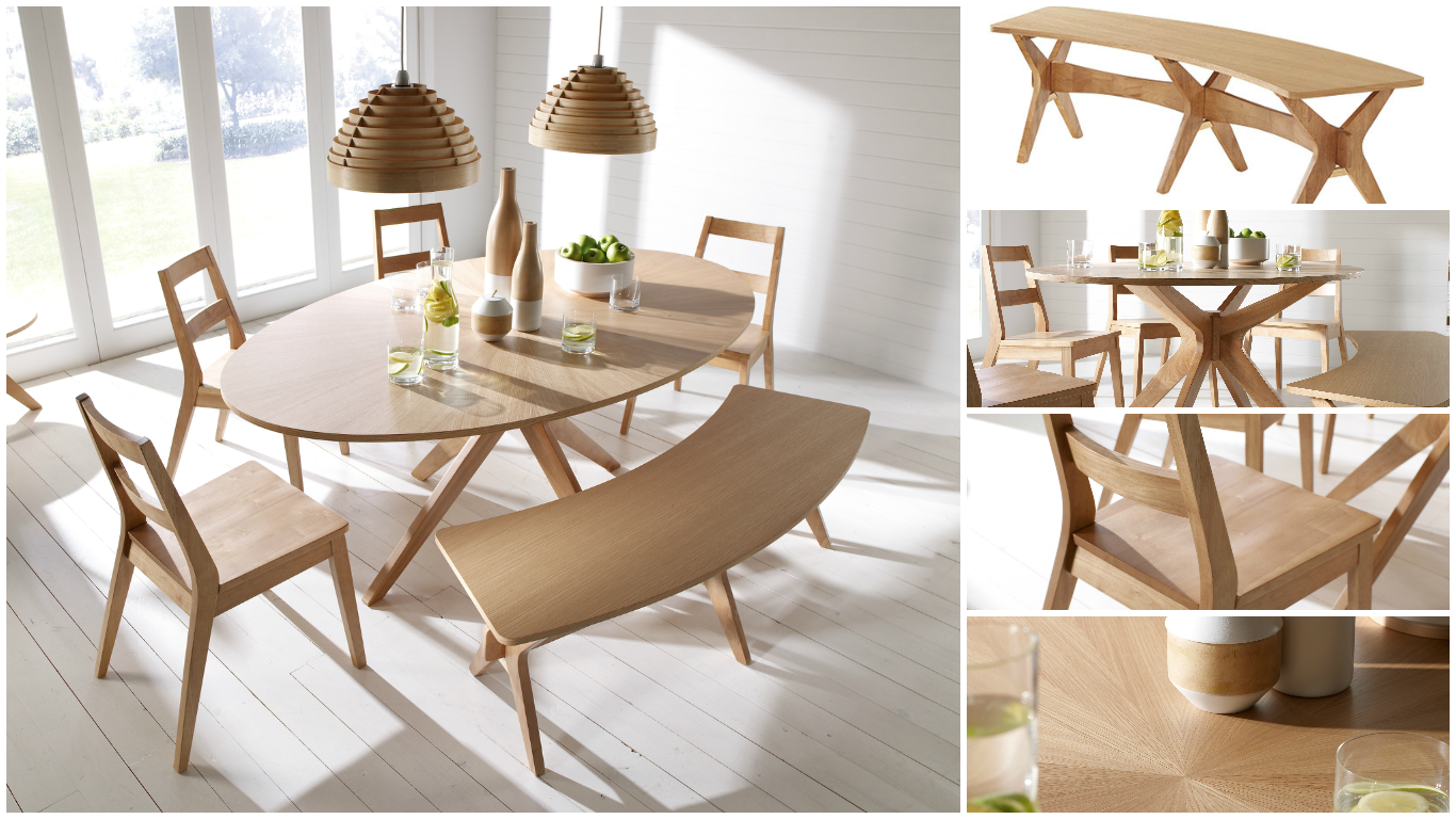33++ Oak bench for dining room table Ideas