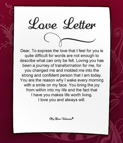 Samples Of Love Letters To Boyfriend To Download For Free