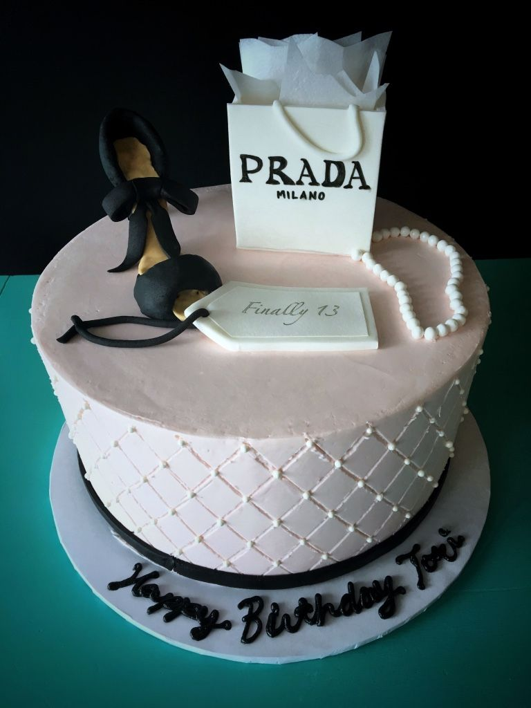 Outstanding Prada Cake Fashion Cake Designer Birthday Cake Pink And Birthday Cards Printable Riciscafe Filternl
