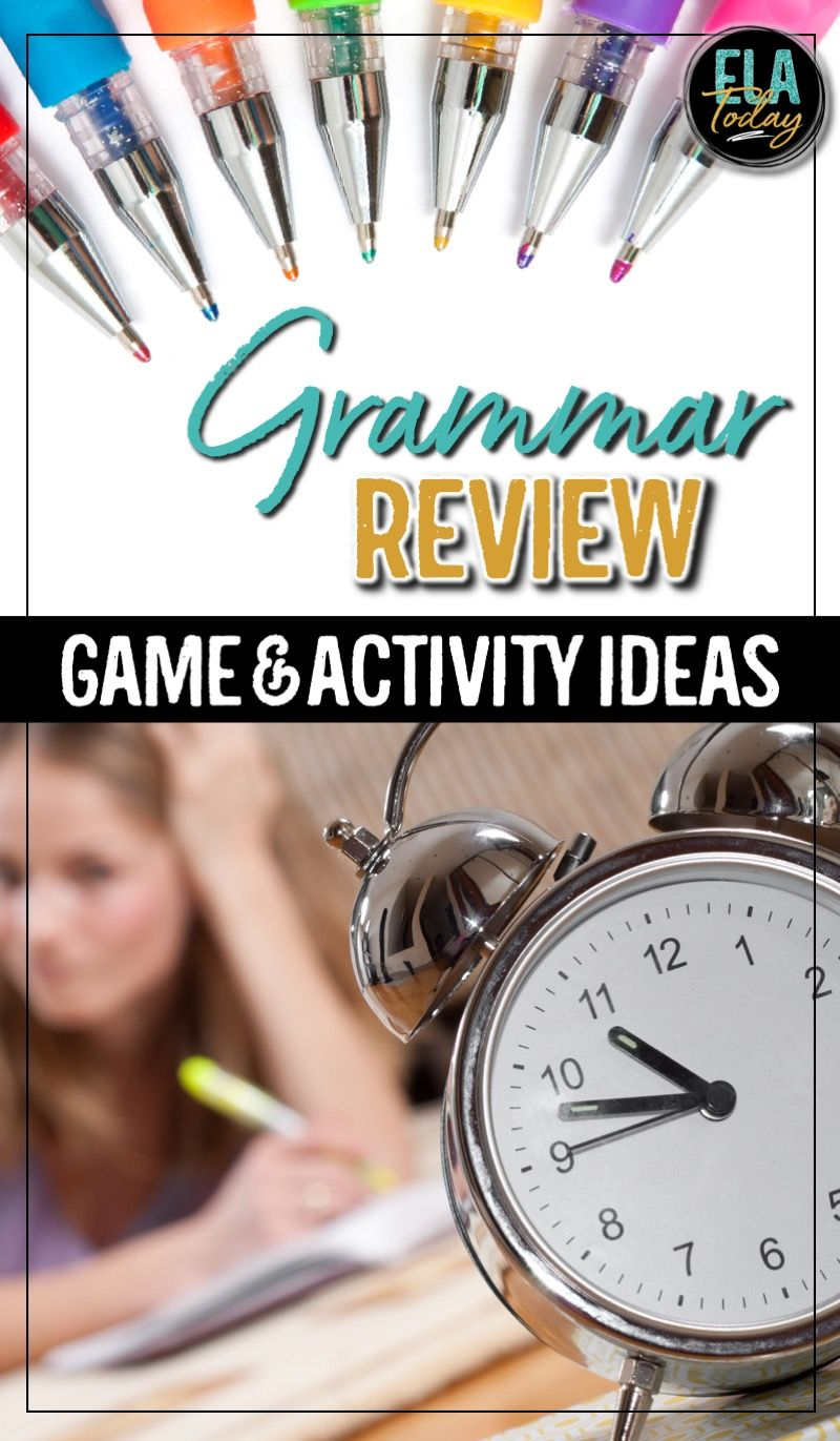 grammar review ideas including games and activities for middle and high school ela. Black Bedroom Furniture Sets. Home Design Ideas