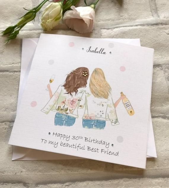 Happy Birthday Best Friend handmade and personalised card ...