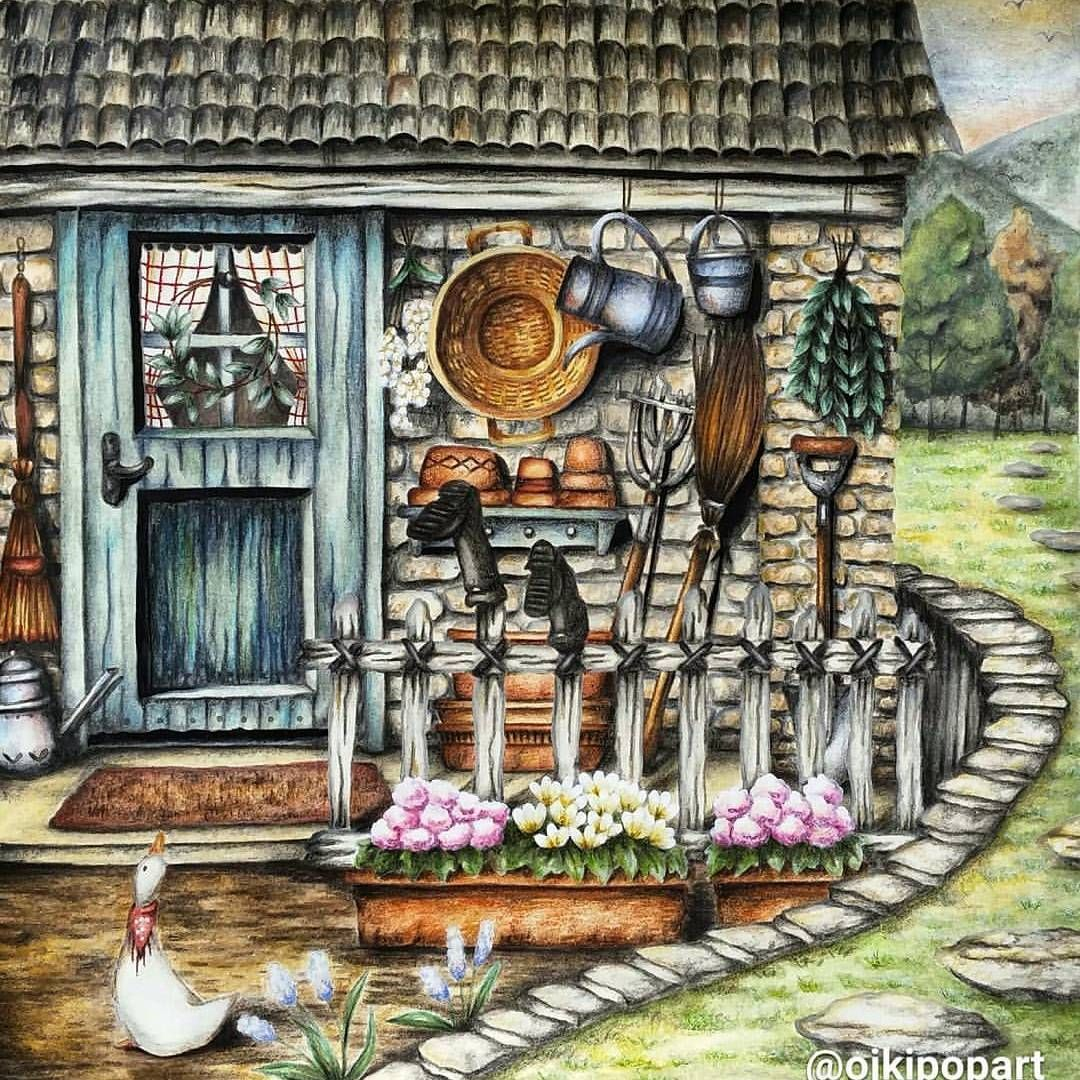 Country Art By Shachar Regev On Coloring Pages Romantic Country
