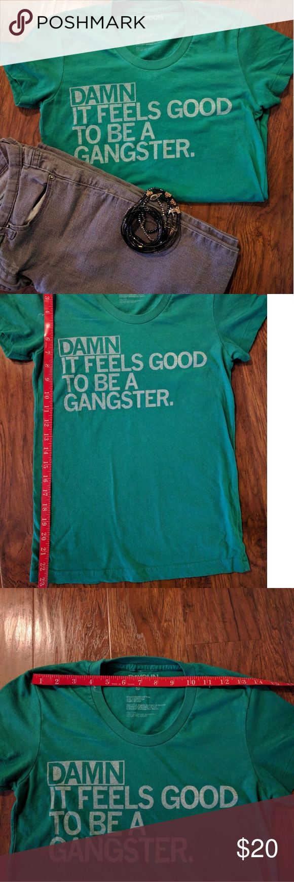 Small, green RAYGUN gangster quote t shirt 😍 Raygun