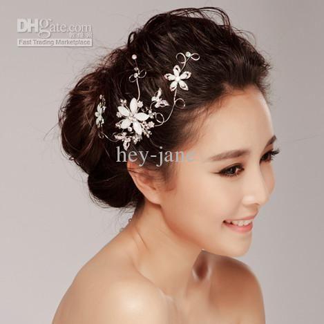 wedding bridal floral wedding bridal hair clip hair accessories
