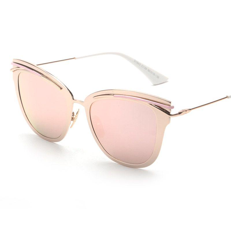 221f2c955d374 marca óculos de sol olho de gato à venda a preços razoáveis, comprar Conter Ouro  Rosa! 2017 Liga Olho de Gato óculos de Sol de Luxo Acolhedor Shades Homens  ...