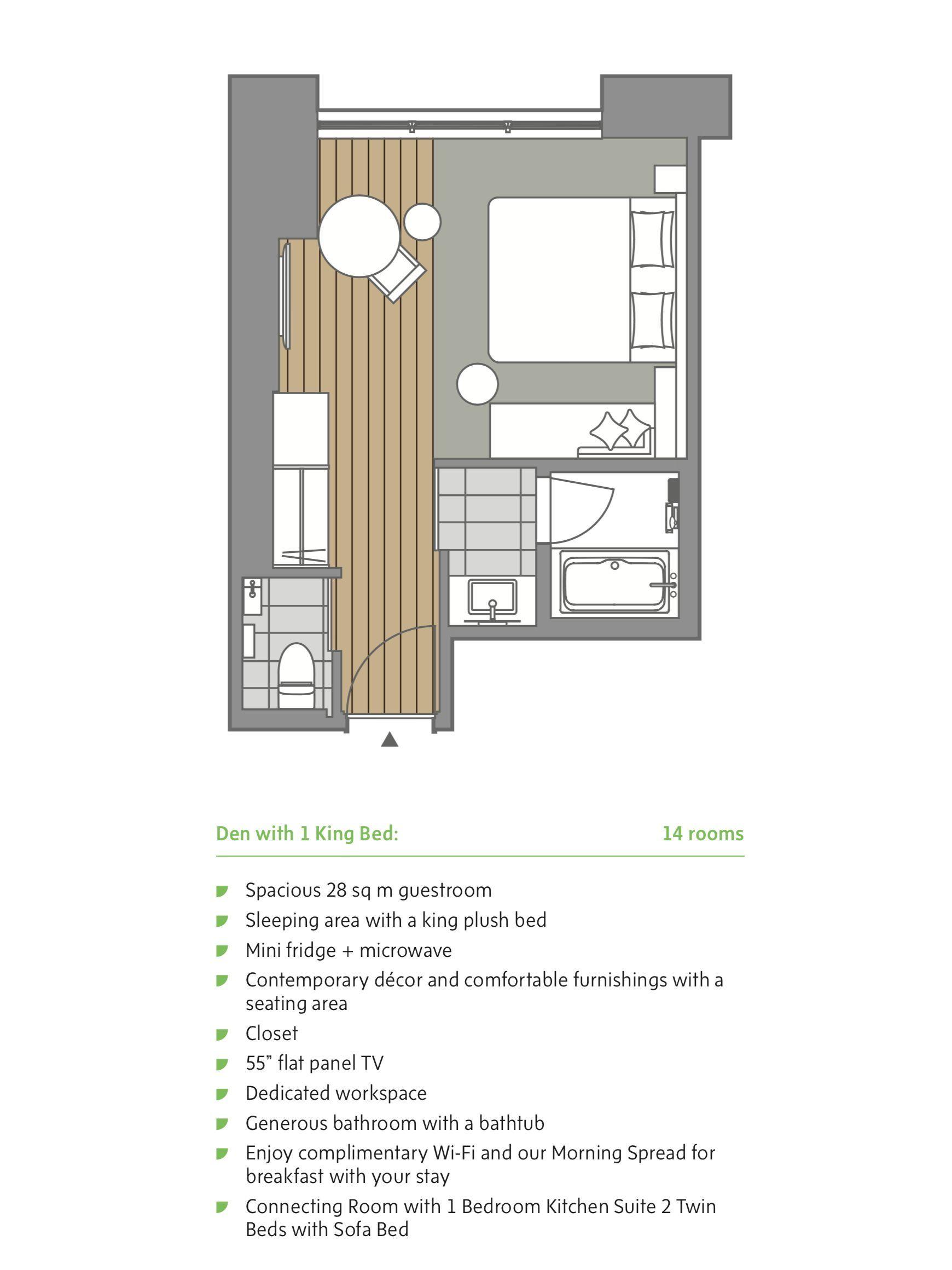 Hyatt House Kanazawa Den With 1 King Bed House Japanese Hotel Floor Plans