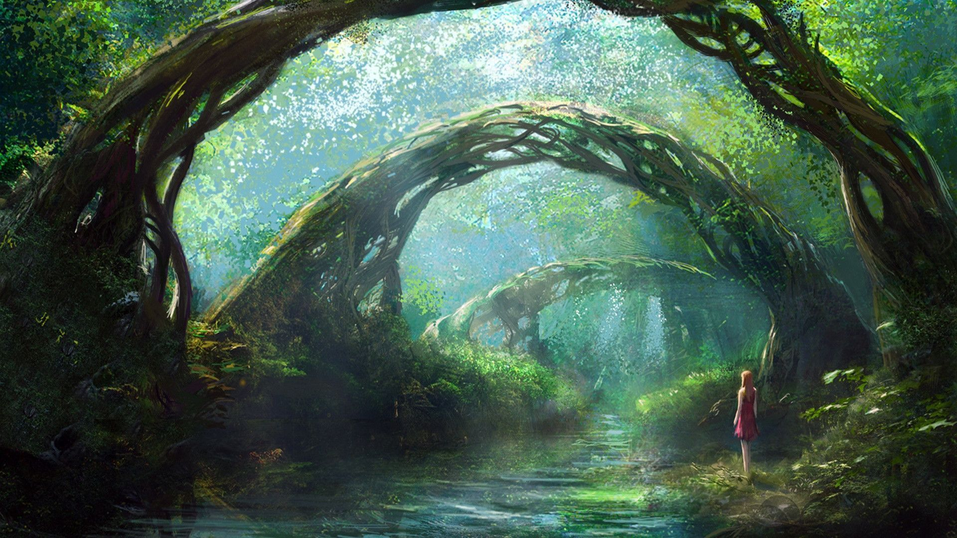 Fantasy Forest Wallpapers Wallpaper Cave Fantasy Forest Fantasy Landscape Fantastic Forest