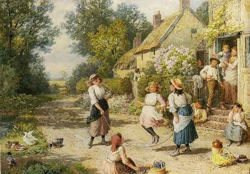 British Paintings Myles Birket Foster Famous Artwork Art Painting