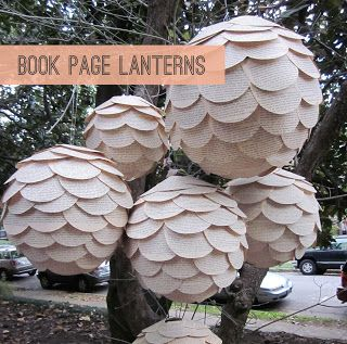 Creations by Bonnybee: Book Page Lanterns