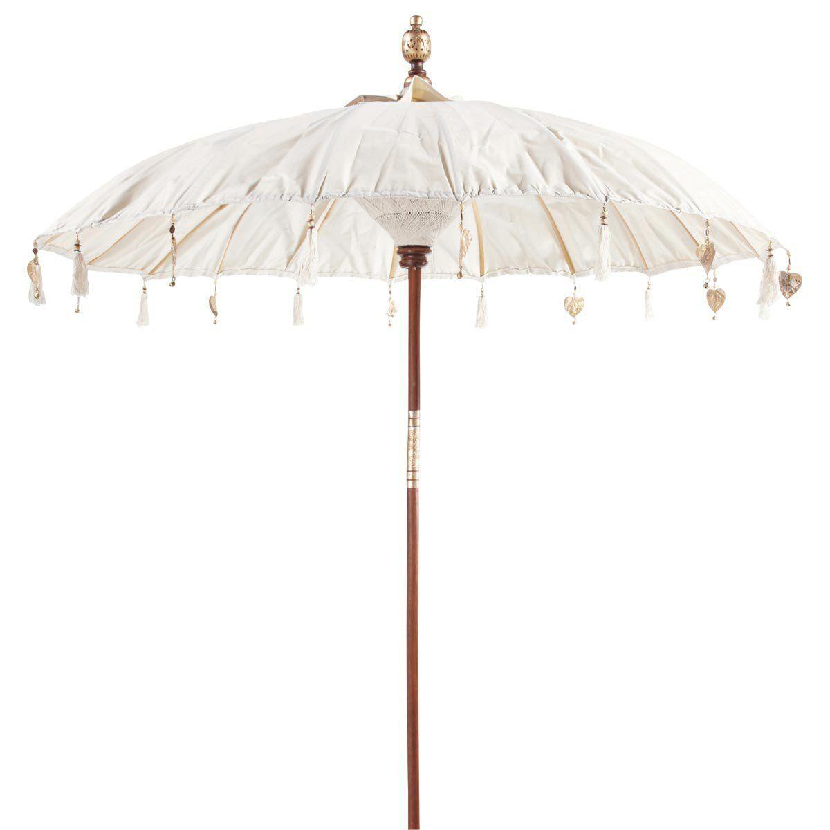 Parasol Ubud ivoire