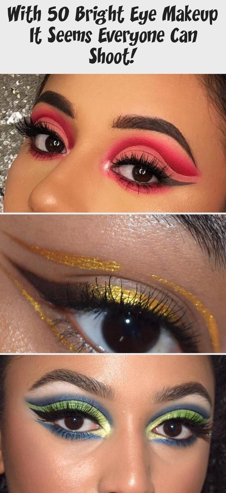 Goede make-up; make-up ideeën; make-up tutorial; kleurrijke oogmake-up MV-48