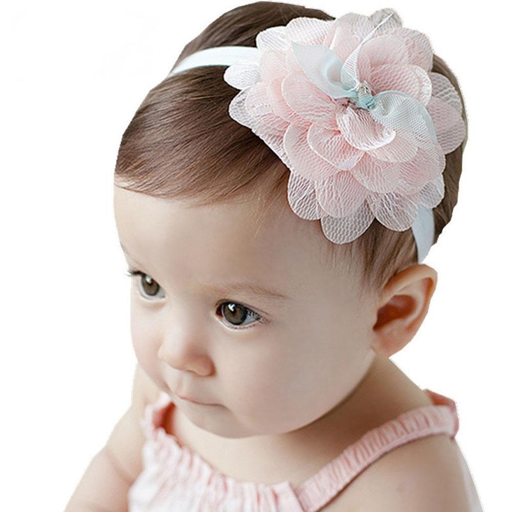 US Baby Girls Kids Lace Flower Headband Headwear Lovely Hair Band Accessories