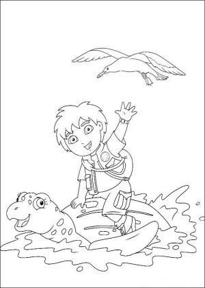 Go diego go coloring page 7 | dora coloring pages | Pinterest ...