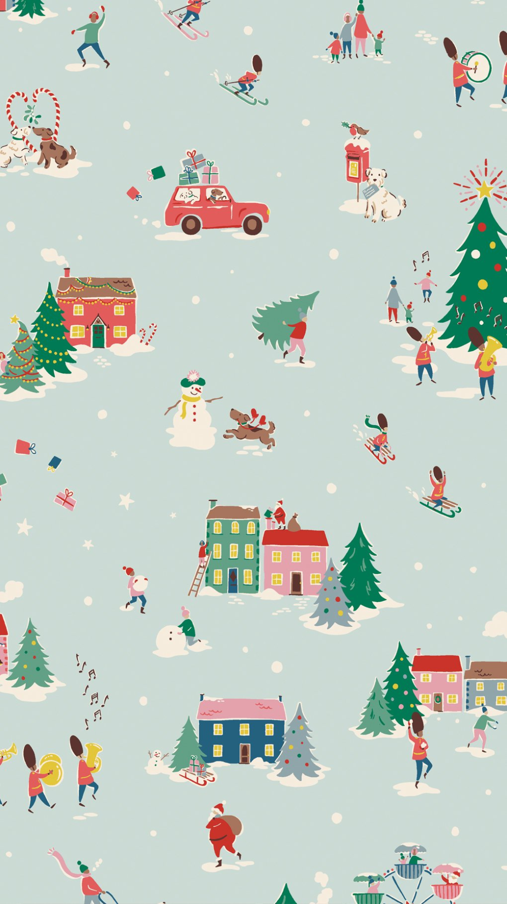 Cath Kidston on Twitter Vintage christmas wrapping paper