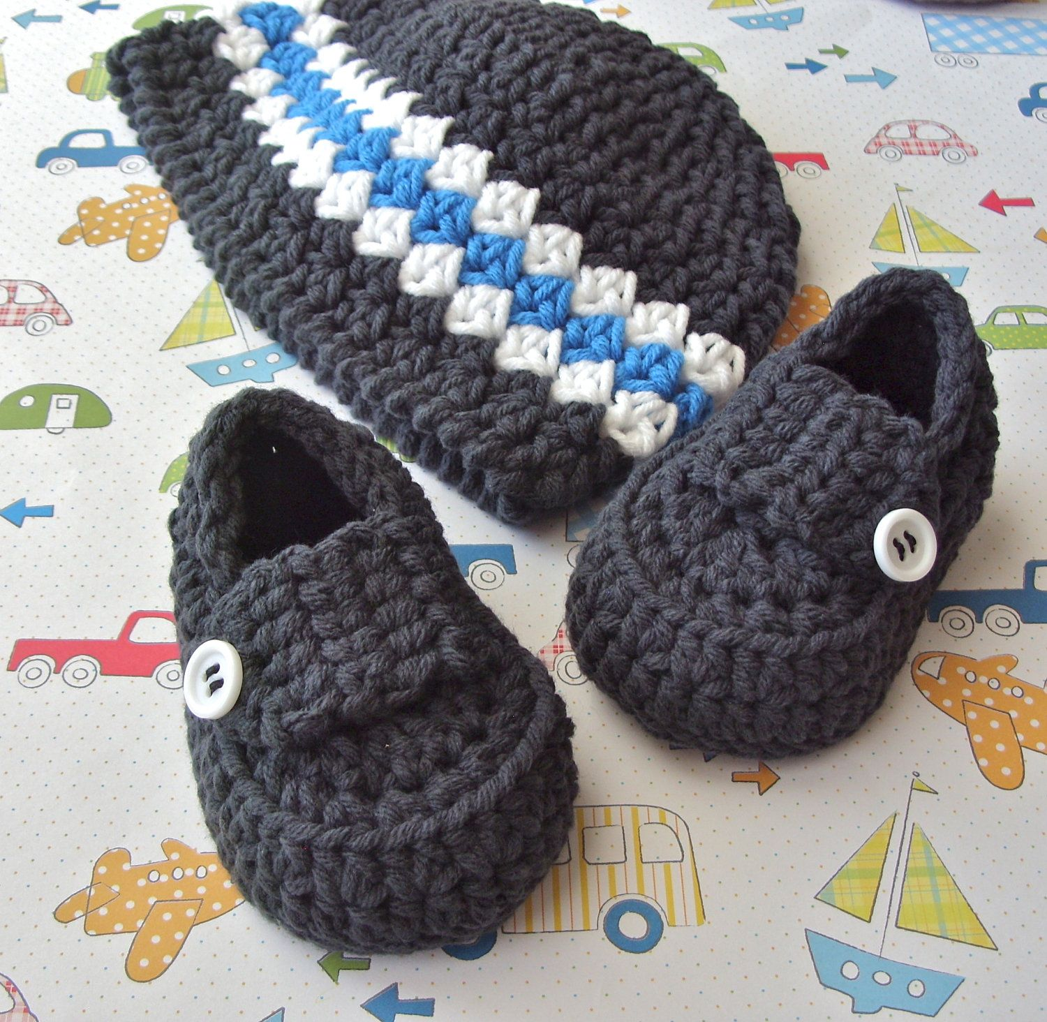 Baby Loafers Crochet Baby Hat Baby Beanie Crochet Booties