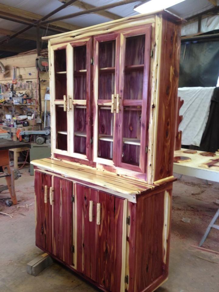Rustic Cedar China Hutch More Than Wood Rustic