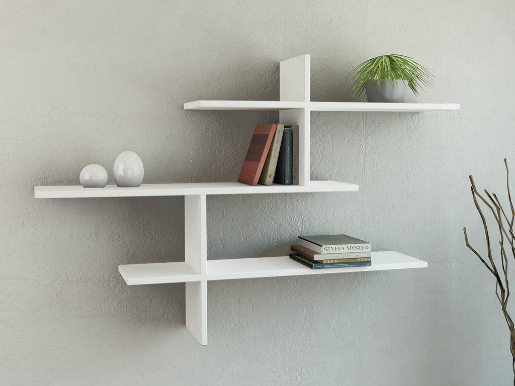 This simple and popular floating style wall shelf has an ...