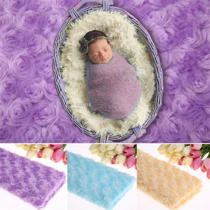 "Fotografia bebê recém-nascido envolve Swaddlings preenchimento Nubble foto Props Faux Fur Rose Basket Stuffer tecido Blanket 39.38 "" * 19.7 ""(China (Mainland))"