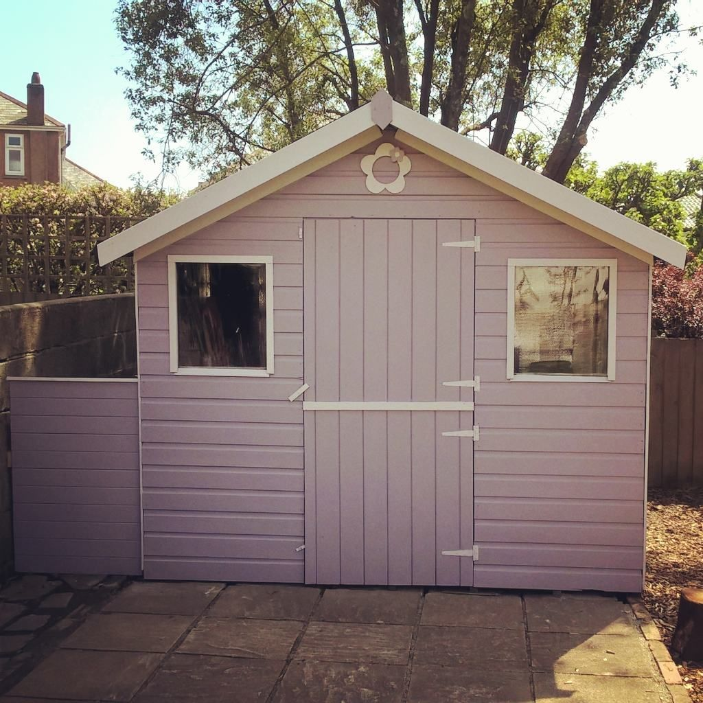 this shed has been given a makeover with valspar paint from bq with their colour - Garden Sheds B Q