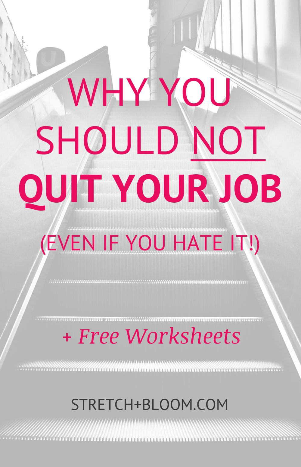 Why you shouldn't quit your (fancy but soulcrushing) job