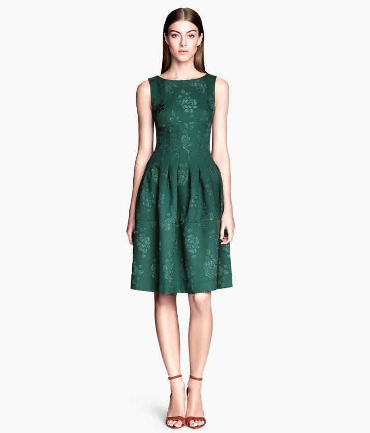 H&M Green Brocade Dress | Cheap dresses, Brocade dresses, Fashion