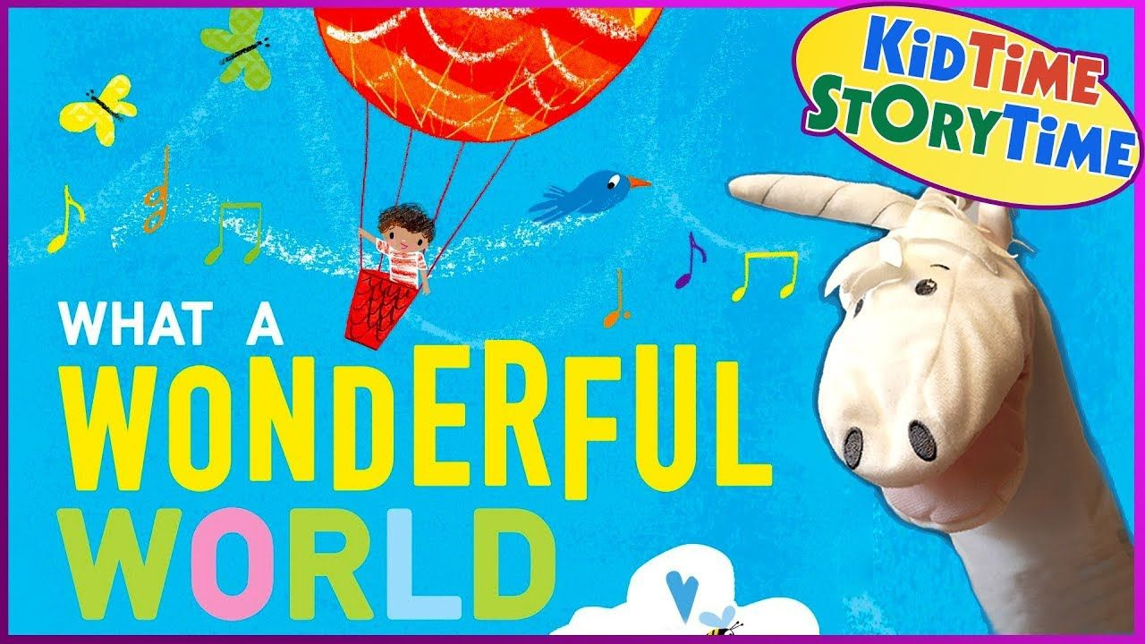 Childrens book based on song what a wonderful world