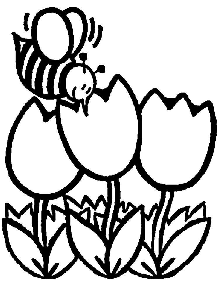 Dibujos Animados Para Colorear Flores Para Ninos Pequenos