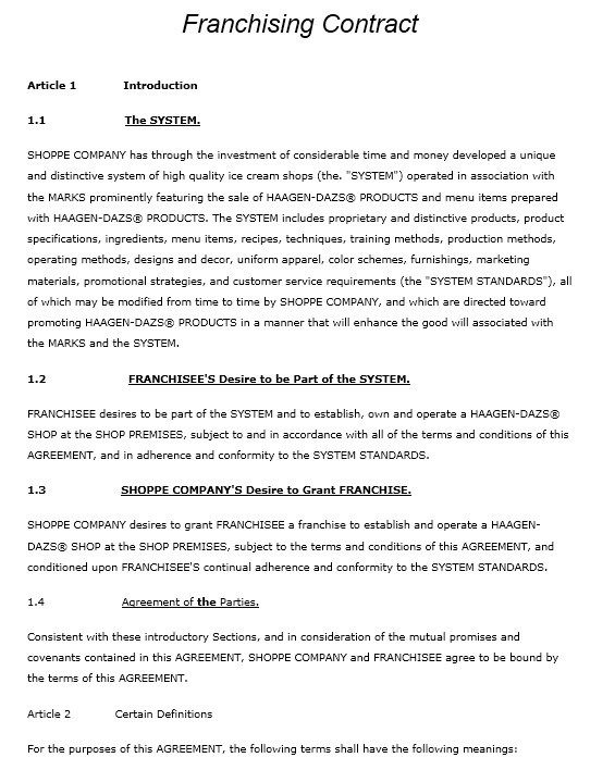 Franchising Agreement Stationary Templates Pinterest - mutual business agreement